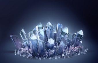 3d Crystal Crystals Wallpaper 340x220