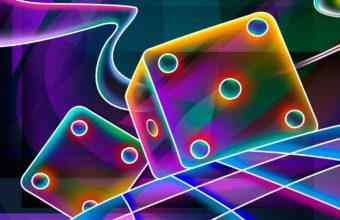 3d Cube Dice Wallpaper 340x220
