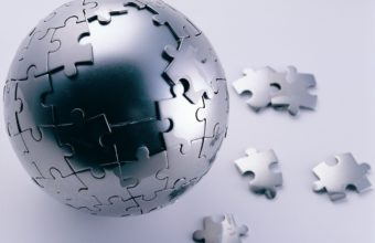 3d Puzzle Ball Wallpaper 340x220