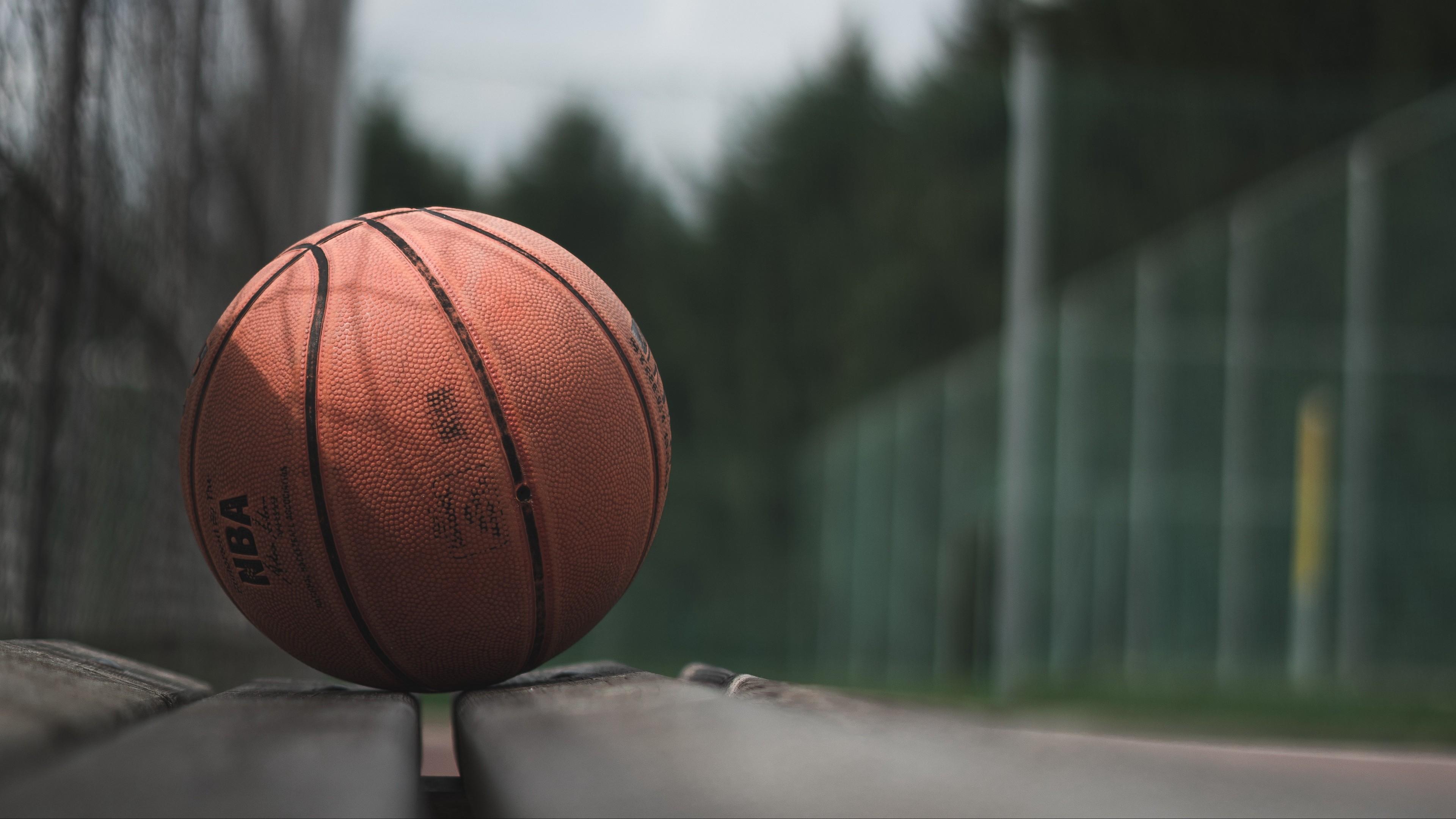 4k Ball Basketball Bench Wallpaper 3840x2160