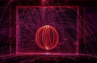 4K Ball Long Exposure Circle Wallpaper 3840x2160 340x220