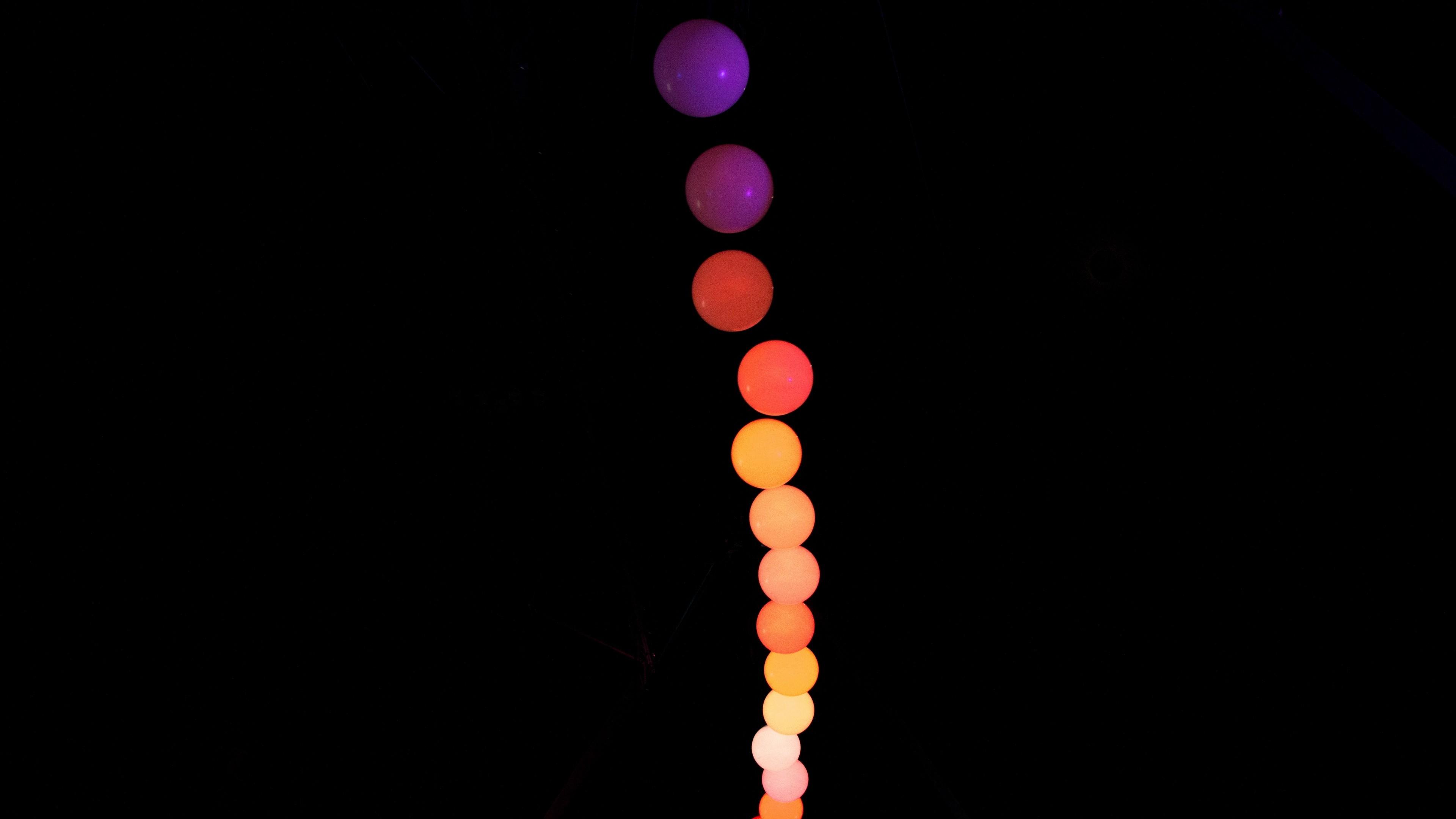 4K Balls Colorful Neon Wallpaper - [3840x2160]