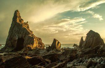 4K Beach Rocks Stones Wallpaper 3840x2160 340x220