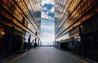 4K Buildings Facade Glass Wallpaper 3840x2160 340x220
