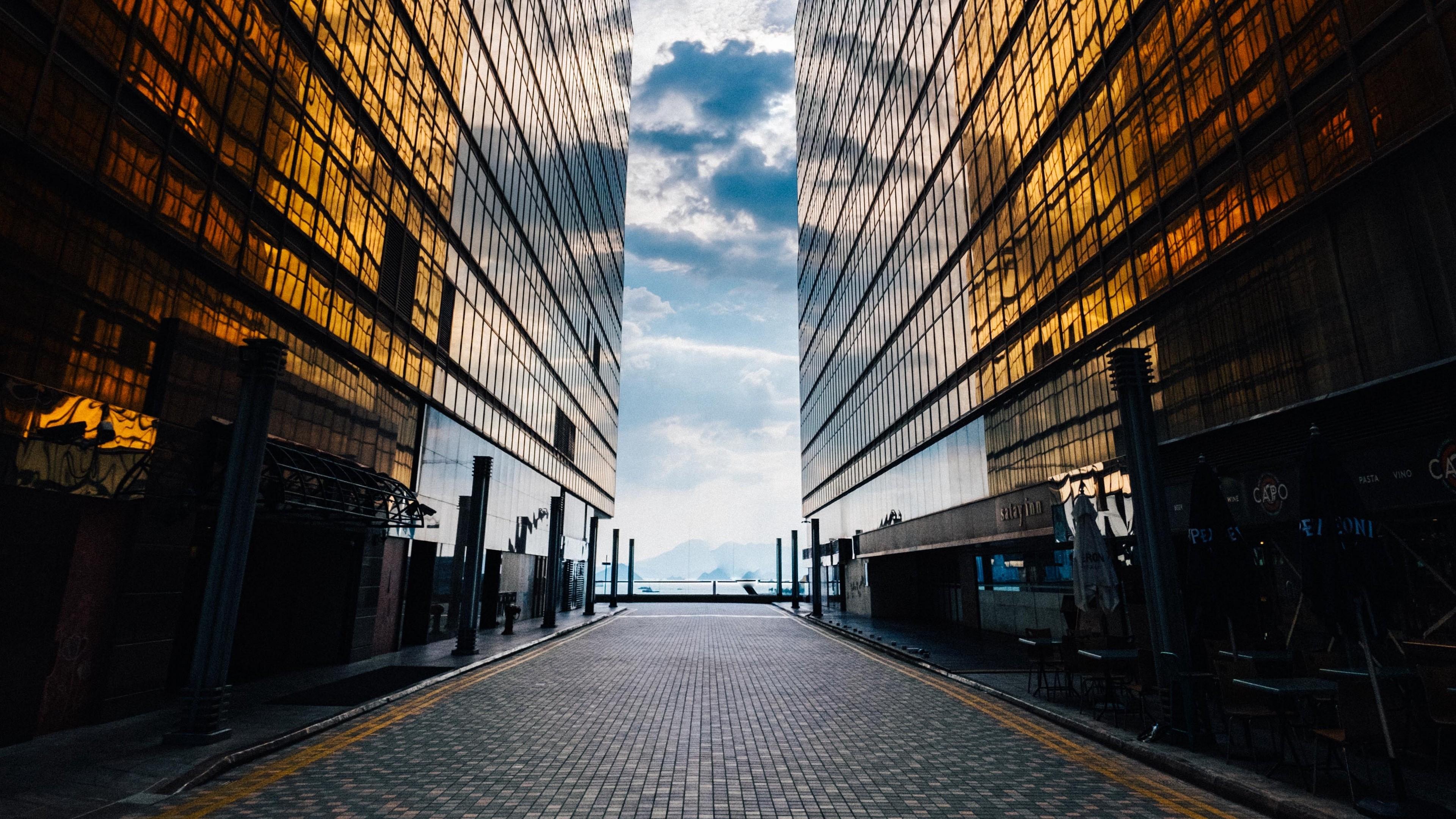 4k Buildings Facade Glass Wallpaper 3840x2160