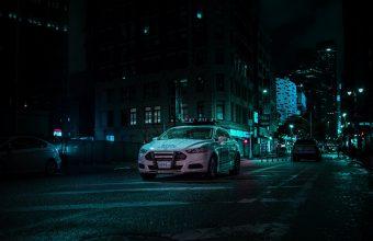 4K Car Police Night City Wallpaper 3840x2160 340x220