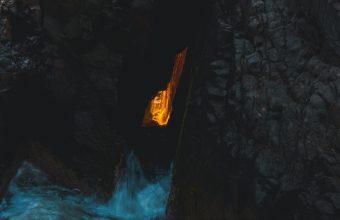 4K Cave Light Water Wallpaper 3840x2160 340x220