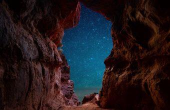 4K Cave Starry Sky Stars Wallpaper 3840x2160 340x220