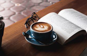 4K Coffee Book Glasses Wallpaper 3840x2160 340x220