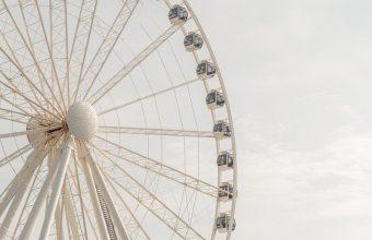 4K Ferris Wheel Attraction Construction Wallpaper 3840x2160 340x220