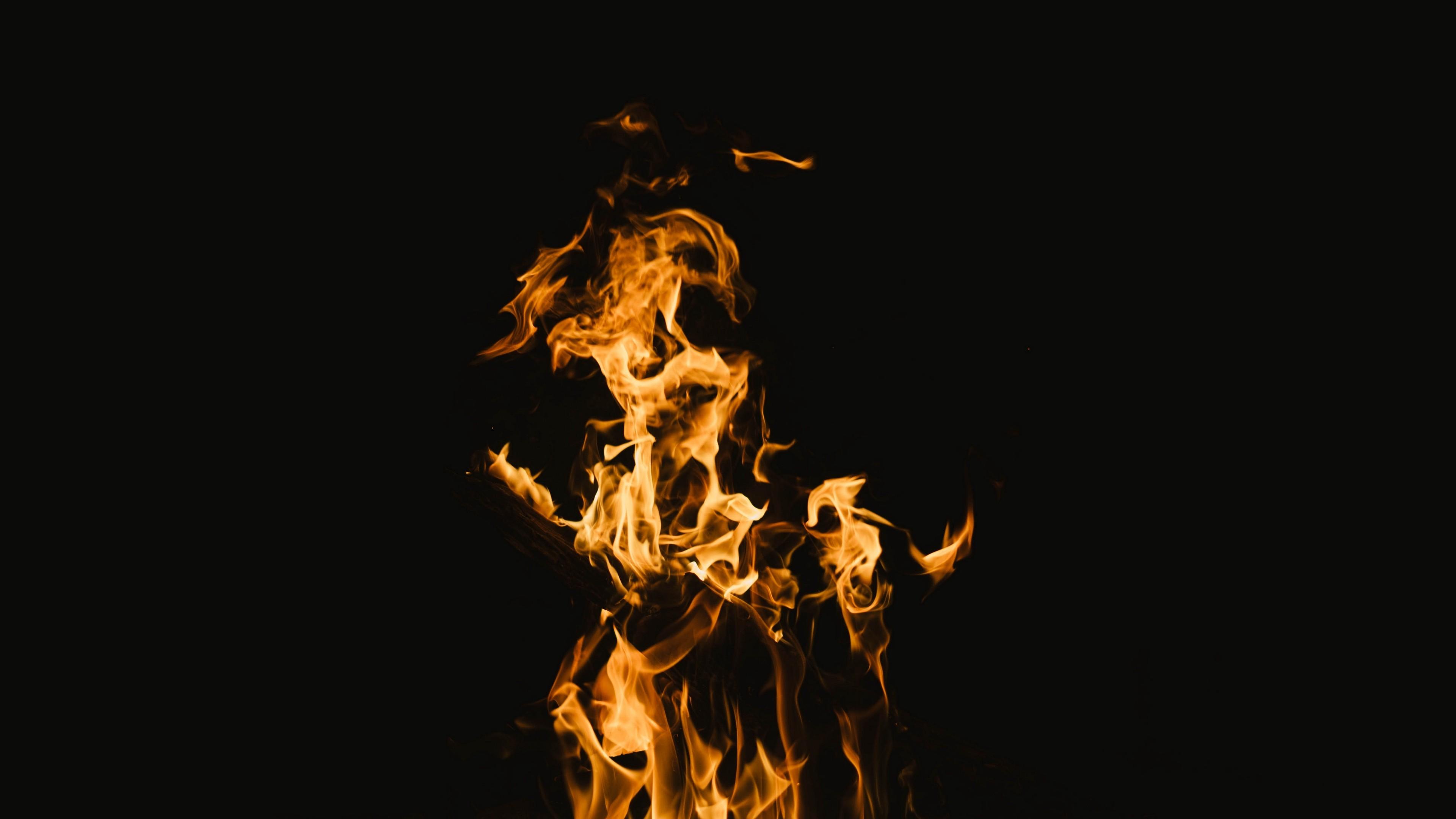 4k Fire Flame Burn Wallpaper 3840x2160