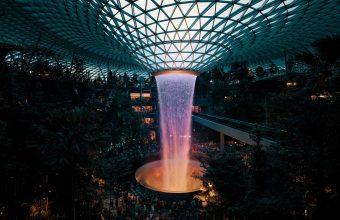 4K Fountain Dome Architecture Wallpaper 3840x2160 340x220