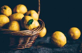 4K Lemons Citrus Basket Wallpaper 3840x2160 340x220