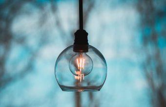 4K Light Bulb Electricity Chandelier Wallpaper 3840x2160 340x220