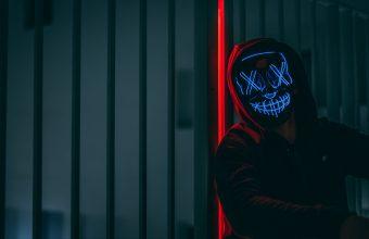 4K Mask Hood Neon Wallpaper 3840x2160 340x220