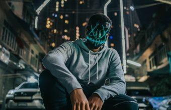 4K Mask Man Anonymous Wallpaper 3840x2160 340x220