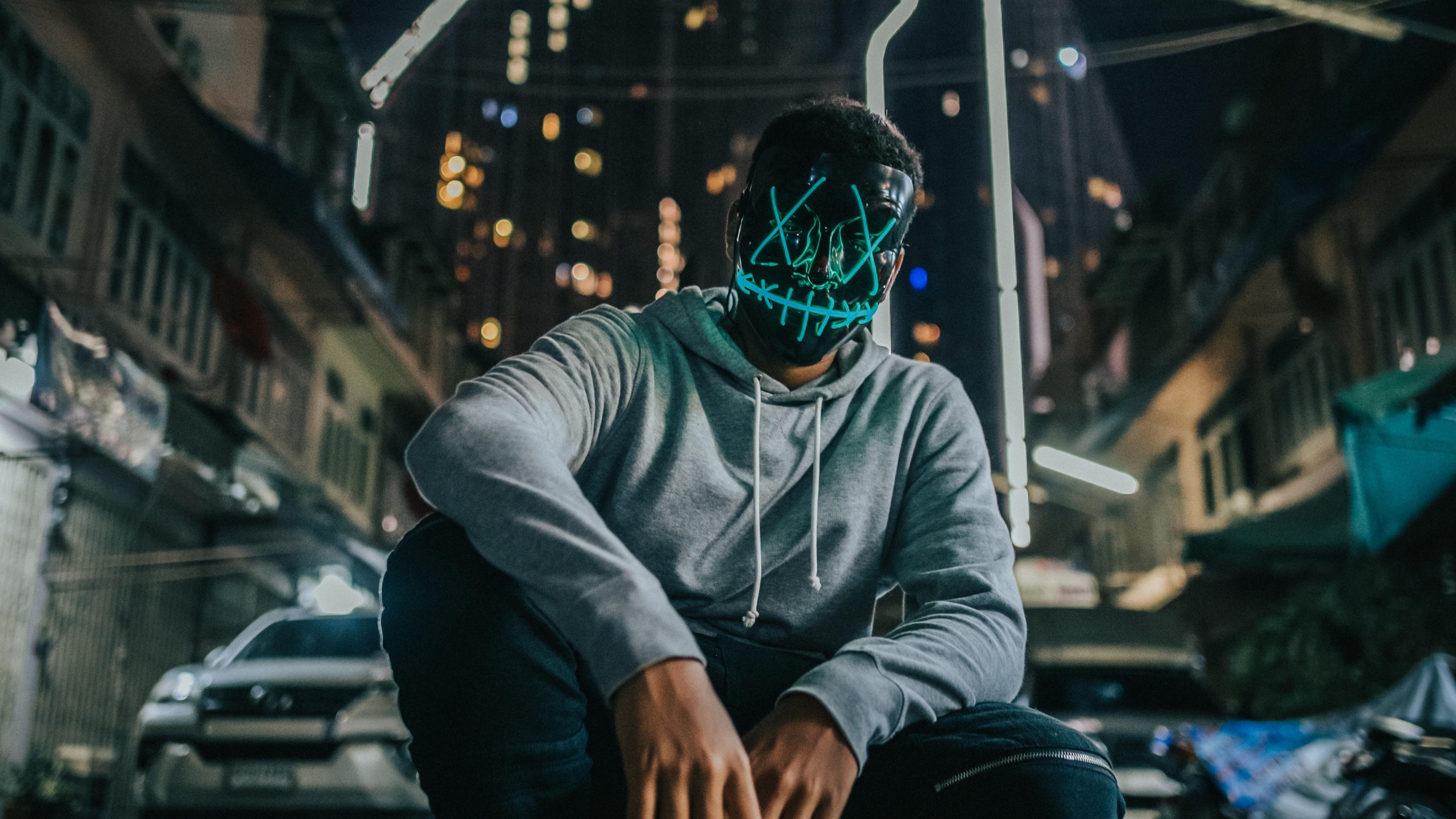 4k Mask Man Anonymous Wallpaper 3840x2160