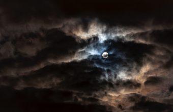 4K Moon Full Moon Clouds Wallpaper 3840x2160 340x220