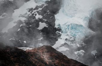 4K Mountain Glacier Fog Wallpaper 3840x2160 340x220