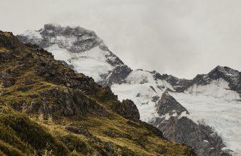 4K Mountain Grass Snow Wallpaper 3840x2160 340x220