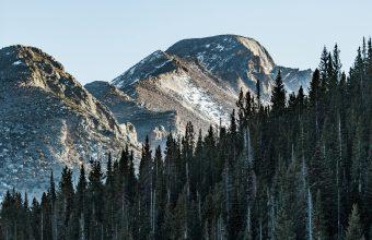 4K Mountain Peak Trees Wallpaper 3840x2160 340x220