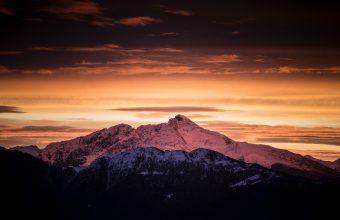 4K Mountains Dawn Clouds Wallpaper 3840x2160 340x220
