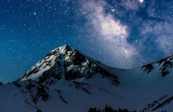 4K Mountains Night Starry Sky Wallpaper 3840x2160 340x220