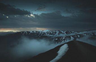 4K Mountains Peaks Fog Wallpaper 3840x2160 340x220