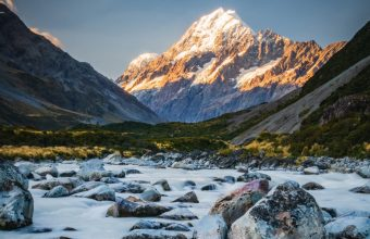 4K Mountains River Stones Wallpaper 3840x2160 340x220