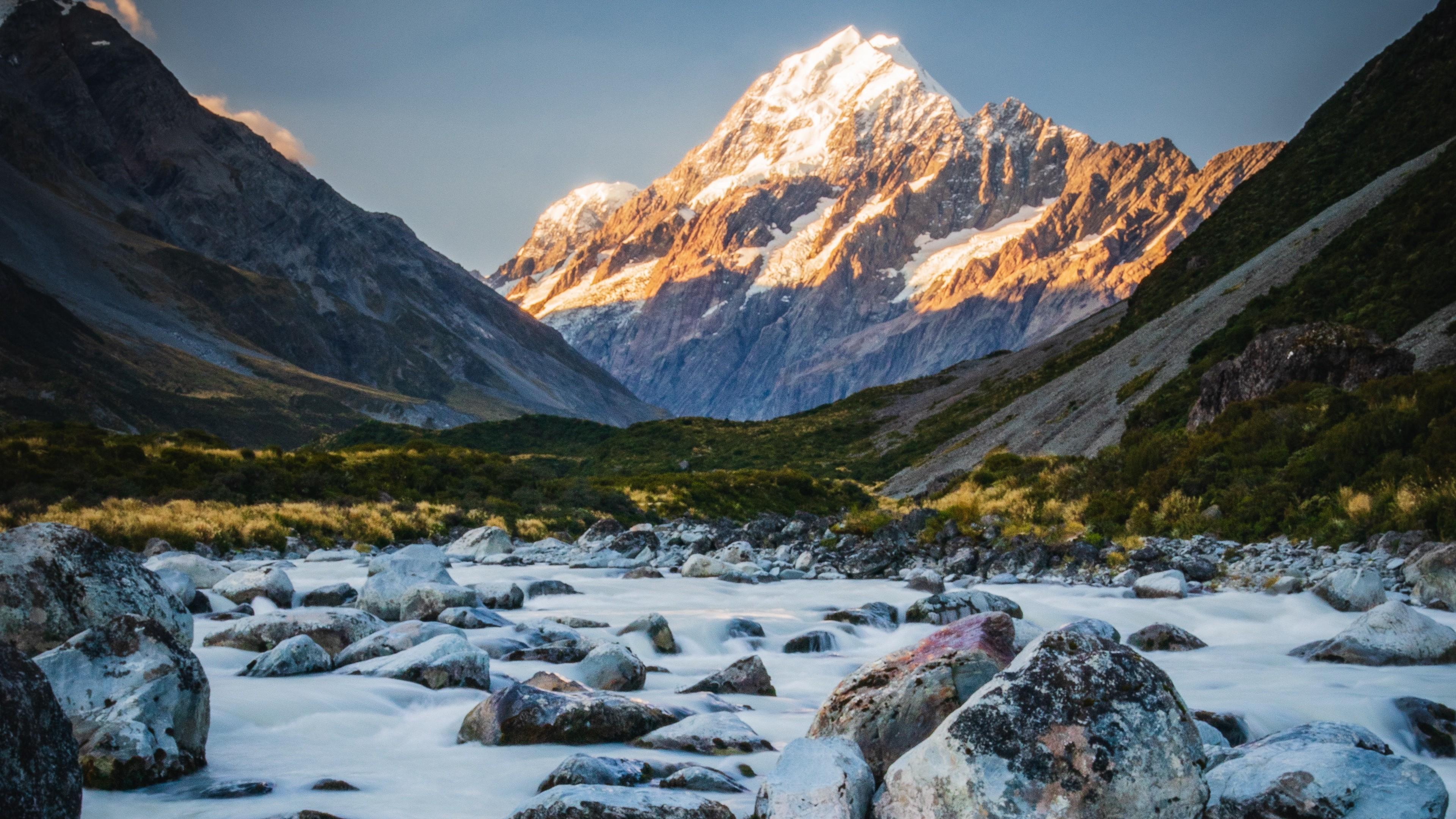4k Mountains River Stones Wallpaper 3840x2160