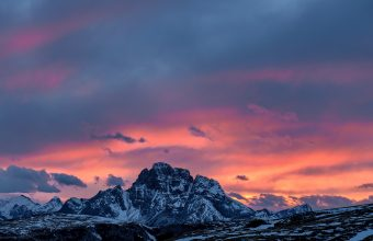 4K Mountains Sunset Peaks Wallpaper 3840x2160 340x220