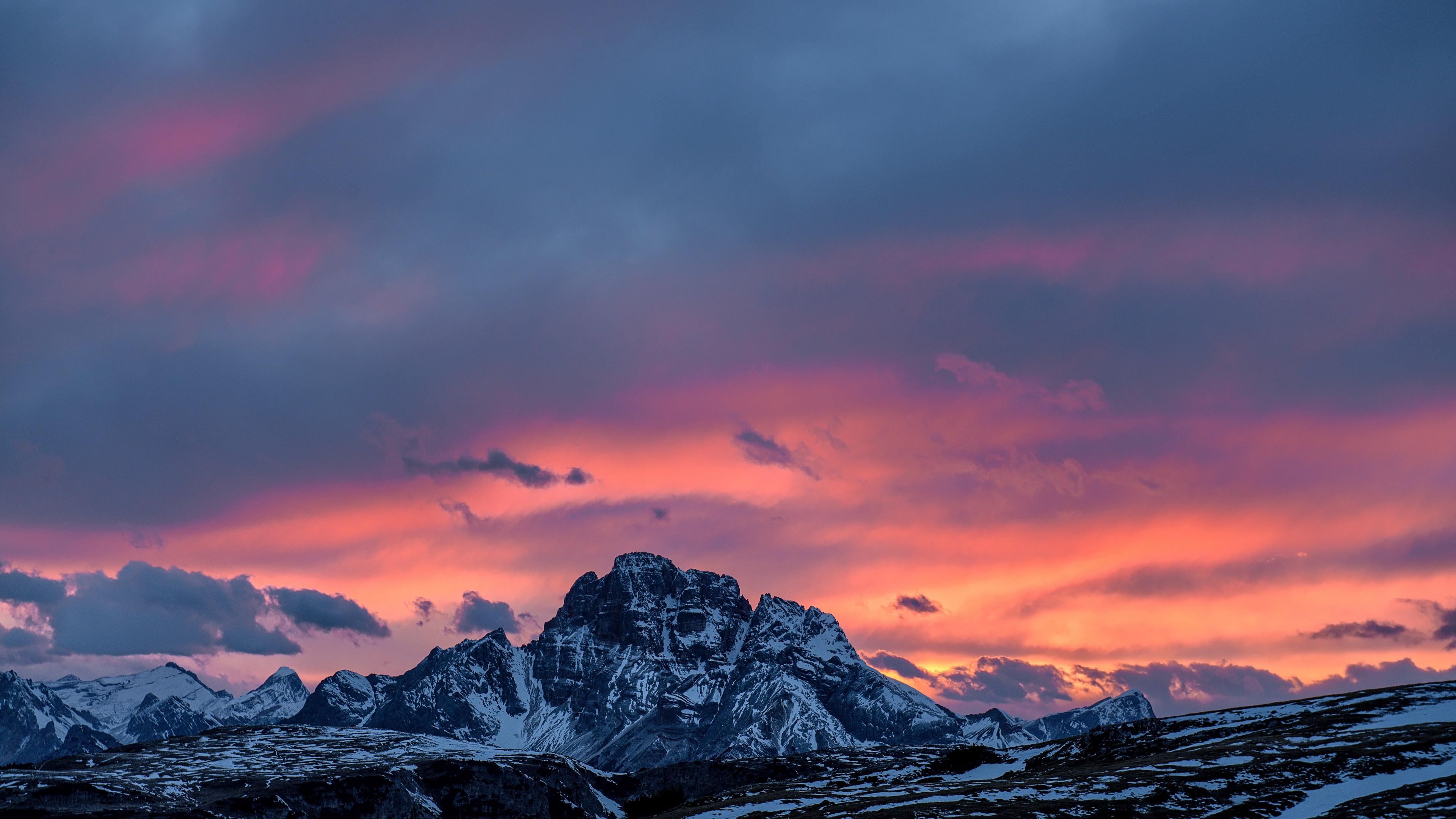 4k Mountains Sunset Peaks Wallpaper 3840x2160