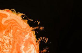 4K Paint Spots Orange Wallpaper 3840x2160 340x220