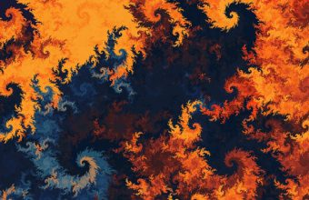 4K Patterns Fractal Twisted Multicolored Wallpaper 3840x2160 340x220