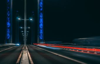 4K Road Long Exposure Night Wallpaper 3840x2160 340x220