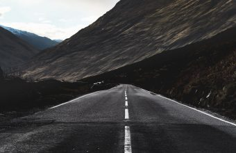 4K Road Marking Mountain Wallpaper 3840x2160 340x220