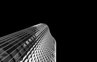 4K Skyscraper Facade Bw Wallpaper 3840x2160 340x220