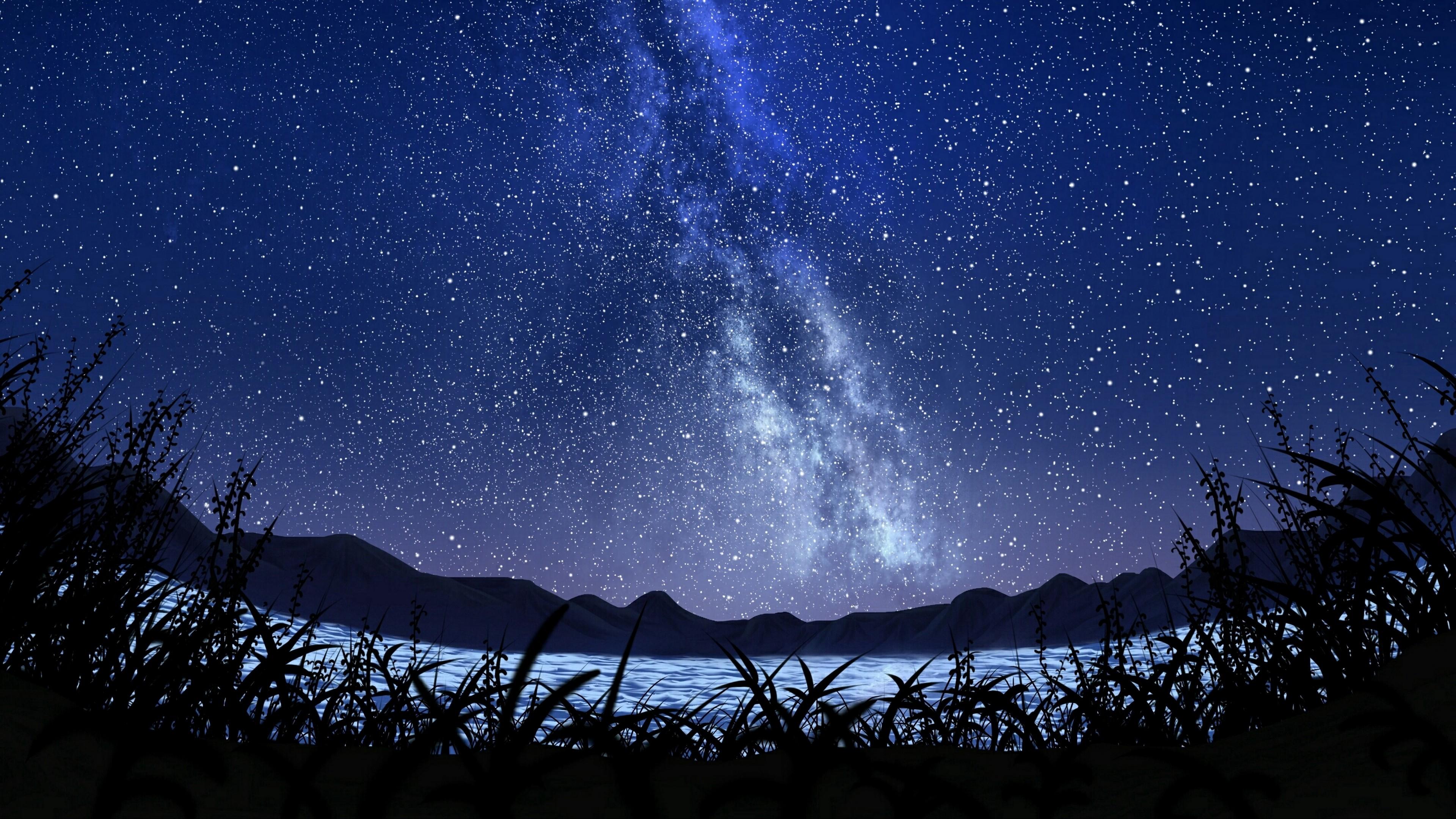 4K Stars Starry Sky Milky Way Wallpaper - [3840x2160]