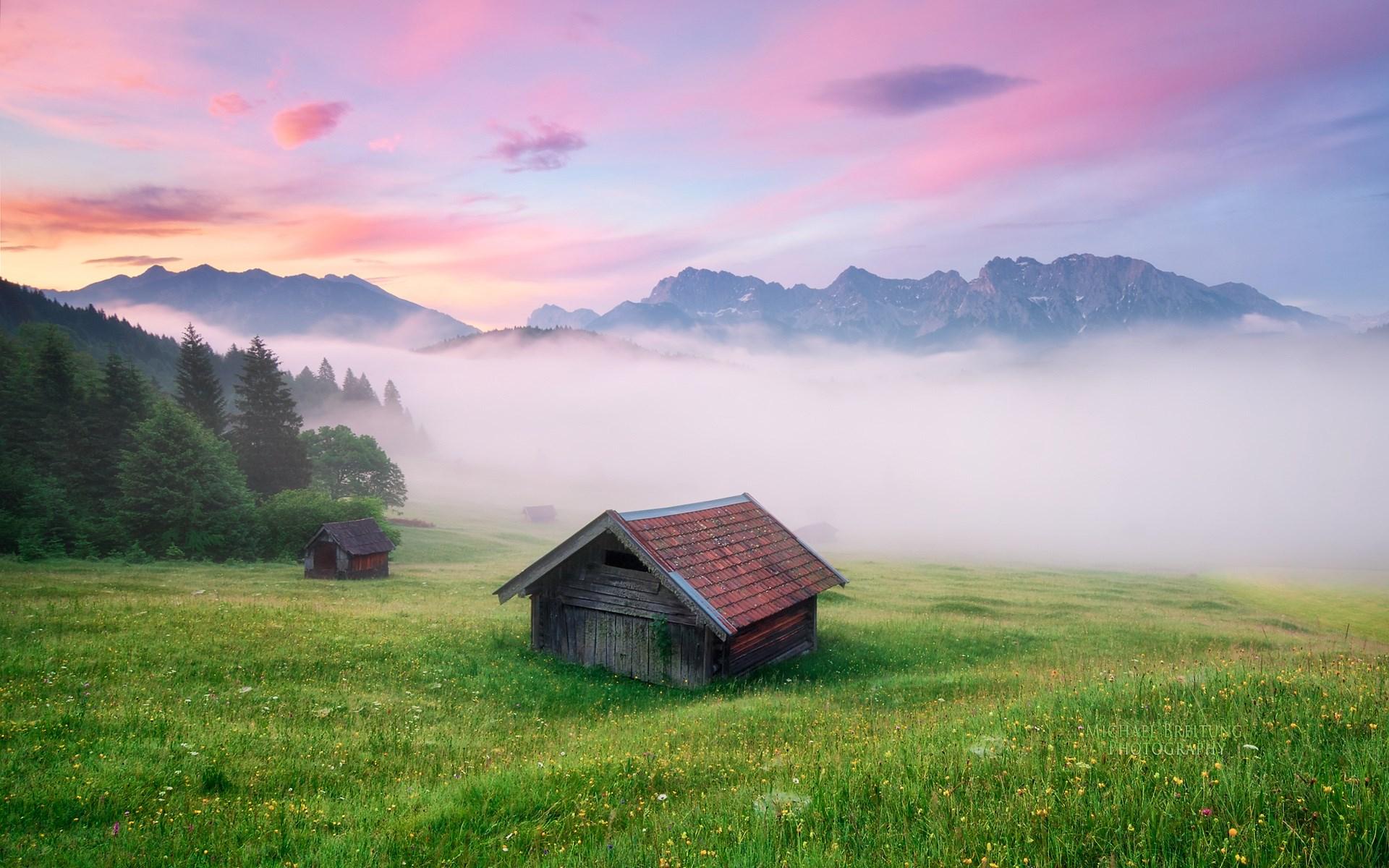 Alpine Glory Near Geroldsee Bavaria Germany