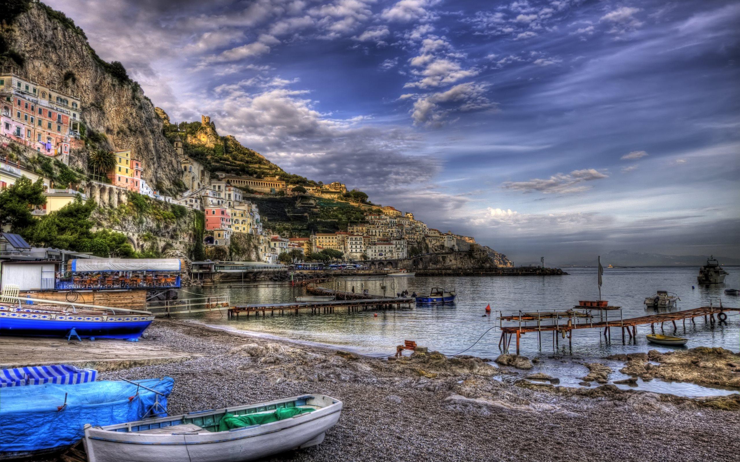 природа облака небо море Чинкве-Терре Италия  № 2798799 без смс