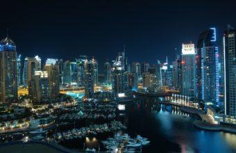 Amazing Dubai Marina Night Wallpaper 2560x1600 340x220