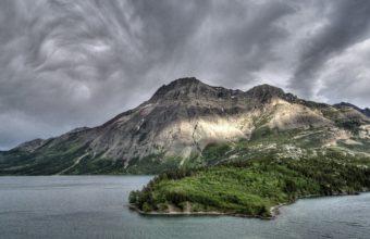 Amazing Mountain In Water Wallpaper 1920x1080 340x220