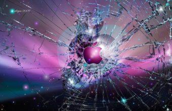 Apple Broken Glass Wallpaper 1920x1200 340x220