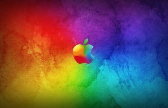 Apple Colorful Background Wallpaper 1920x1080 340x220