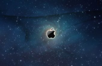 Apple Logo Galaxy Wallpaper 1600x1000 340x220