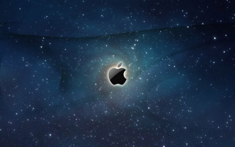 Apple Logo Galaxy Wallpaper 1600x1000 768x480