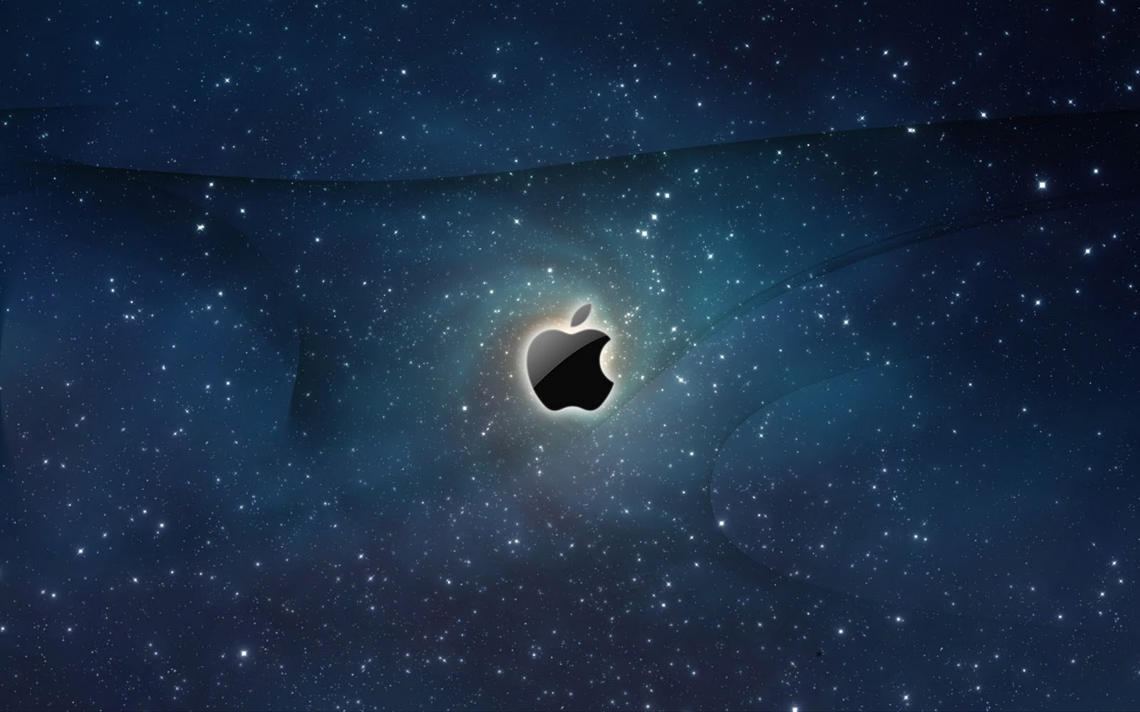 Download Wallpaper Macbook Galaxy - Apple-Logo-Galaxy-Wallpaper-1600x1000  Best Photo Reference_32457.jpg