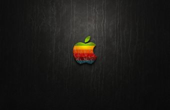 Apple Logo Leather Wallpaper 2560x1600 340x220