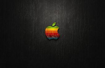Apple Logo Leather Wallpaper 2560x1600 340x220