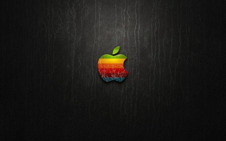 Apple Logo Leather Wallpaper 2560x1600 768x480